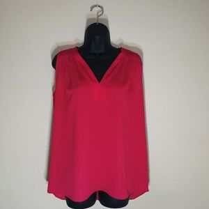 Pleione Red Sleeveless Blouse Size S